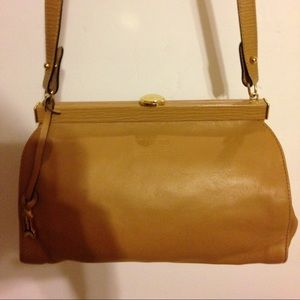 Rare Gold Pheil tan leather luxury bag